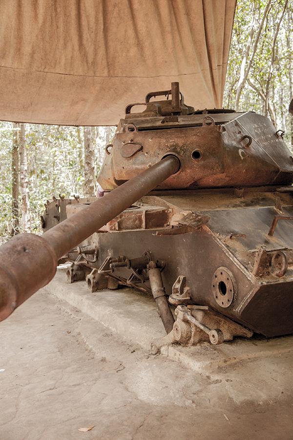Un tanque capturado y conservado con orgullo