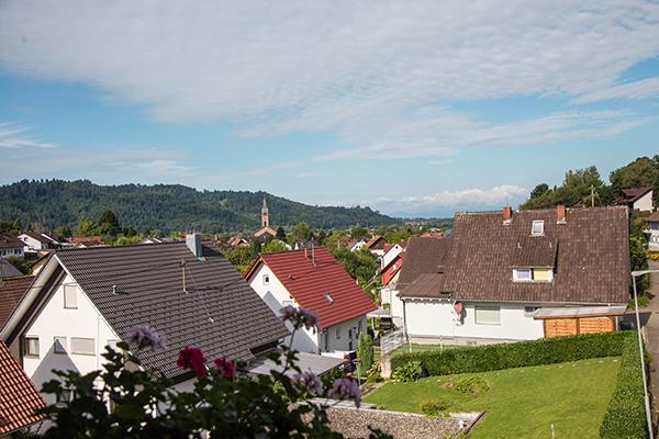 DEsde nuestra terraza en Ohlsbach