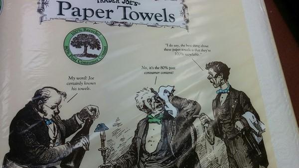 Toallitas de papel con chiste victoriano incorporado
